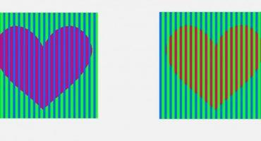 ¿De qué color son estos corazones?
