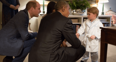 El presidente Obama conoce al Prince George y esto fue lo que pasó
