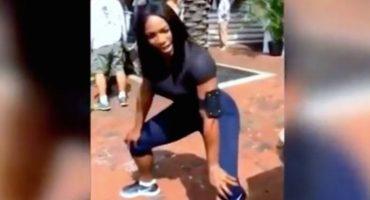 Serena Williams nos enseña a twerkear