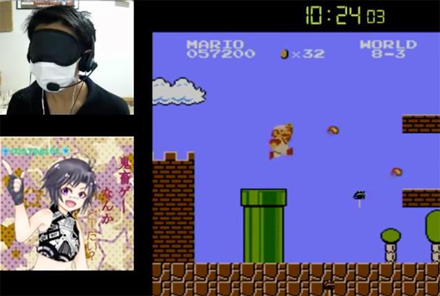 ¡Este genio acabó Super Mario Bros. con los ojos cerrados!