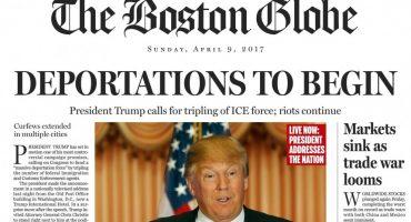 Si Trump fuera presidente: El encabezado falso del Boston Globe nos hace imaginarlo