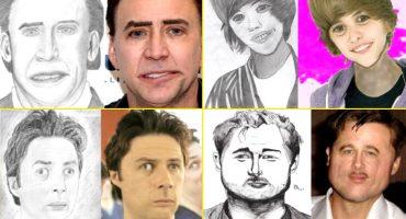 Así se verían las celebridades si se parecieran a sus peores fan arts