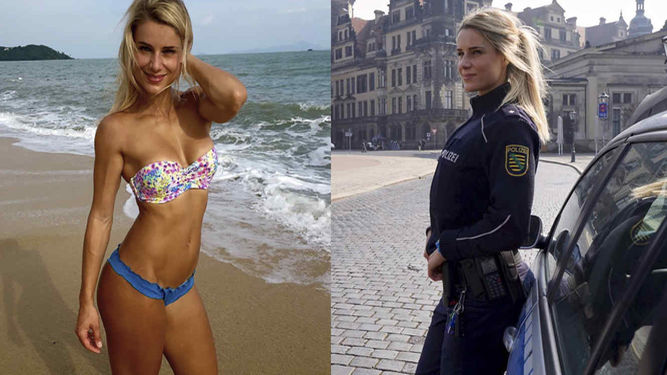 ¡Arrésteme! Conozcan a la sexy policía alemana que se hizo famosa en Instagram