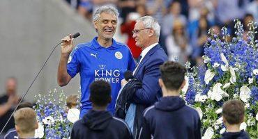 La promesa de Andrea Bocelli a Claudio Ranieri