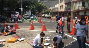 Intervienen calles de la CDMX para promover cultura vial