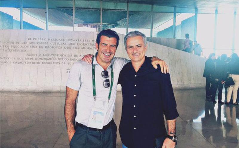 José Mourinho, Ronaldinho, Luis Figo y Samuel Eto'o visitan el Museo de Antropología