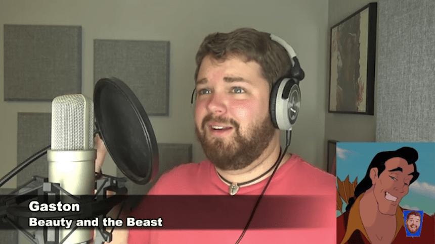 Este hombre canta 'Hello' de Adele como varios personajes de Disney