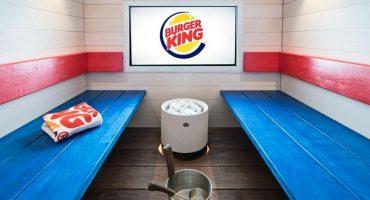 Para sudar la hamburguesa: ¡Llega el primer sauna de Burger King!