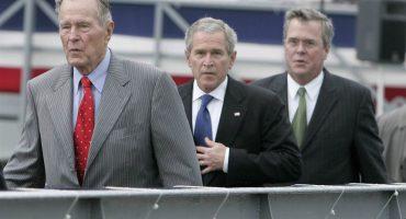 Expresidentes Bush descartan apoyo a Donald Trump