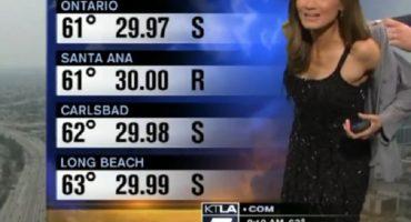 Televidentes piden a chica del clima que se tape... no, no fue a Yanet García