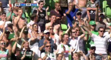 Todos los estadios de Holanda festejan el gol que le quitó el título al Ajax