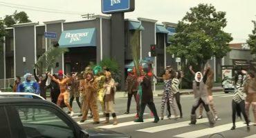 James Corden y Seth Rogen llevan 'The Lion King' a las calles de Los Ángeles