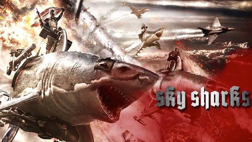 Zombis nazis montan tiburones voladores en el nuevo tráiler de Sky Sharks