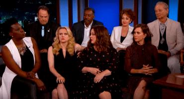 El elenco original y del reboot de Ghostbusters se reúnen con Jimmy Kimmel