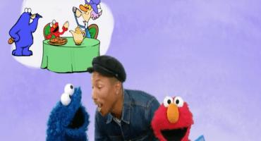 Mira a Pharrell Williams cantar junto a Elmo en Sesame Street