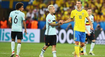 Bélgica avanza a los Octavos de Final en el último partido de Zlatan con Suecia