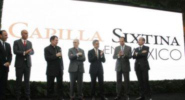 Se inaugura en la CDMX replica 'milimétricamente exacta' de la Capilla Sixtina