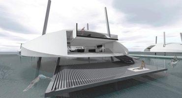 Arquitectos diseñan una casa capaz de levantarse en las inundaciones