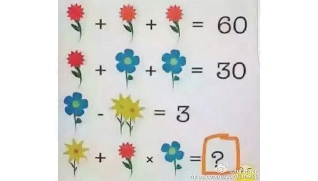 ¿Crees poder resolver este acertijo de números y flores?