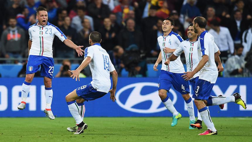 Al más puro estilo italiano, la escuadra azzura vence 2-0 a Bélgica