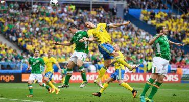 En un intenso duelo Irlanda y Suecia empatan a un gol
