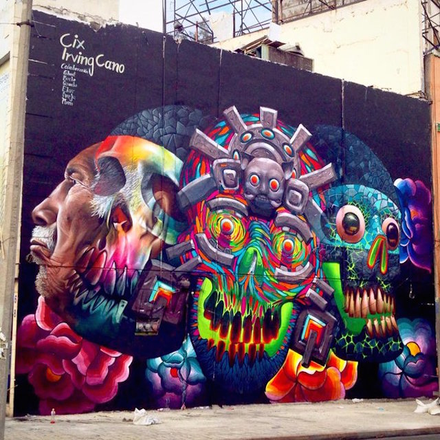 Grafitero de origen zapoteca invitado a pintar murales en for Arte mural en mexico