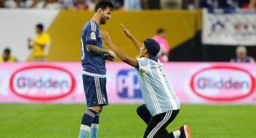Así reaccionó Messi al escuchar la narración de su gol ante Estados Unidos
