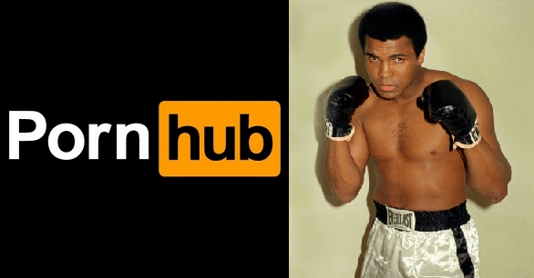 Incluso Pornhub rinde honor a Muhammad Ali cambiando su logo
