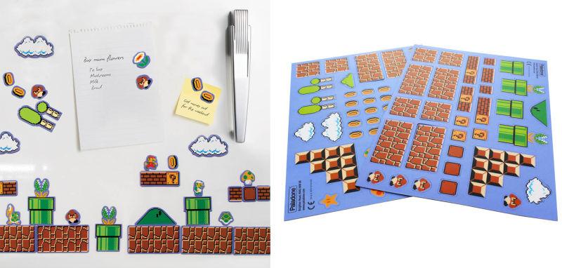 Estos imanes de Super Mario Bros. te permiten crear un nivel en el refrigerador