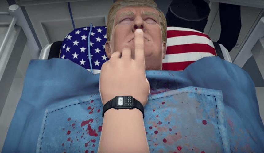 Este nuevo juego te permite extirpar el corazón de Donald Trump