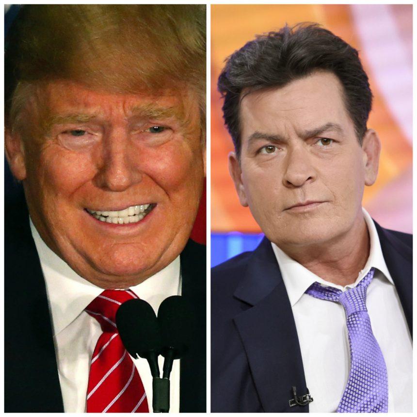 Además de racista, Donald Trump es muy tacaño o al menos eso es lo que dice Charlie Sheen