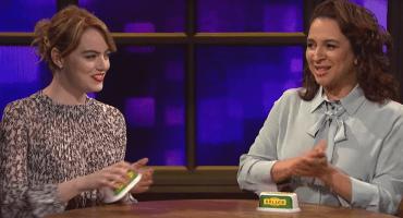 Miren a Emma Stone y Maya Rudolph tocar cover de Robyn con envases de mantequilla