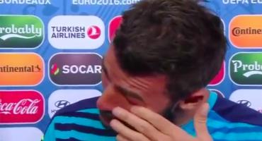Las lágrimas de Andrea Barzagli tras la eliminación de Italia en la Euro 2016