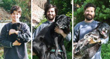 Antes y después: Fotos de personas con sus mascotas que nos parten el corazón