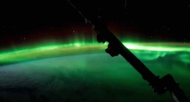 Así se ven las auroras boreales desde la Estación Espacial Internacional