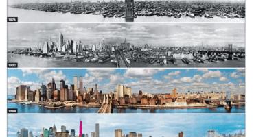 Fotos que nos muestran el antes y el después de famosas ciudades