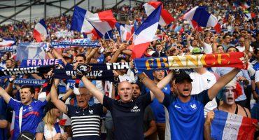 Así celebraron los franceses el gol de Griezmann en la Torre Eiffel