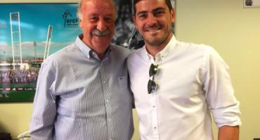 Iker Casillas y Vicente del Bosque hacen las paces