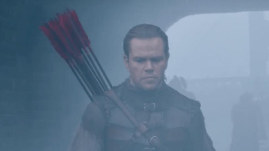 Matt Damon pelea contra monstruos en el trailer de The Great Wall