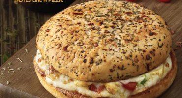 Les presentamos el híbrido de pizza y hamburguesa de Domino's