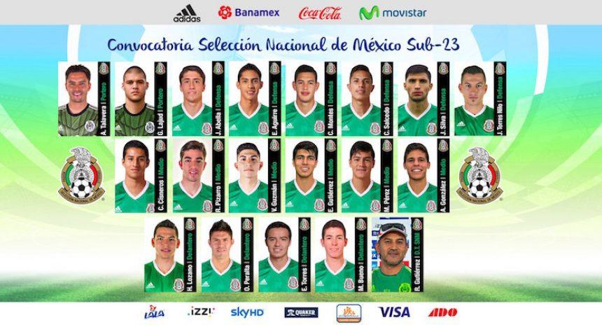 Estos son los 18 futbolistas mexicanos que irán a Río 2016