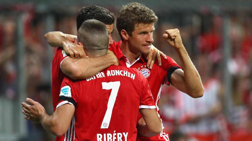 Bayern Múnich goleó al Werder Bremen en el inicio de la Bundesliga