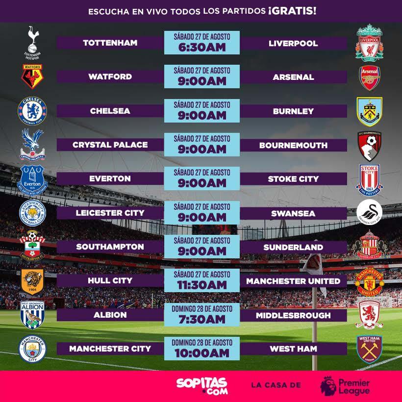 Premier League Calendario.Calendario Premier League Sopitas Com