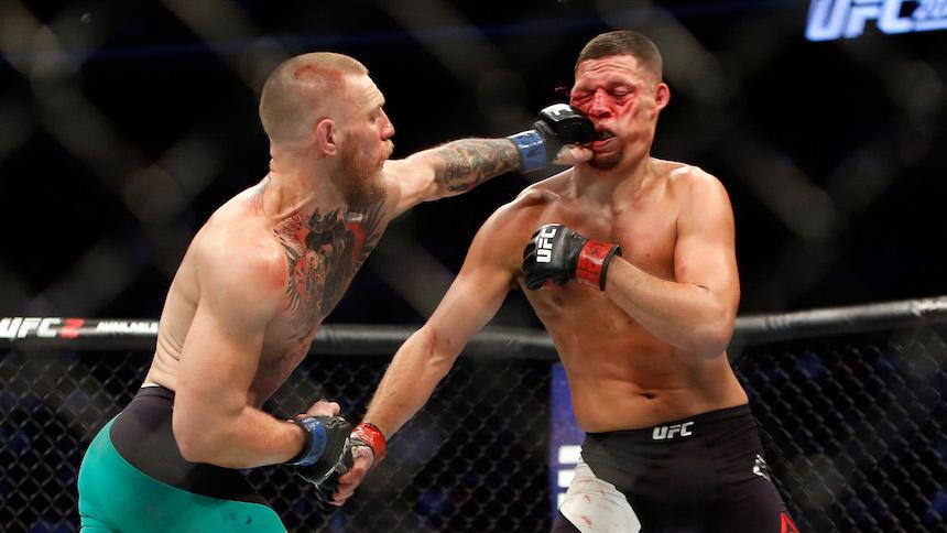 Conor McGregor venció a Nate Diaz en UFC 202