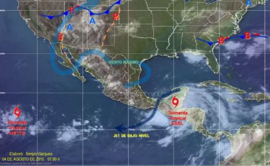 Earl pierde fuerza y se degrada a tormenta tropical