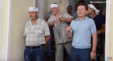 Minero ucraniano intenta inmolarse durante transmisión en vivo