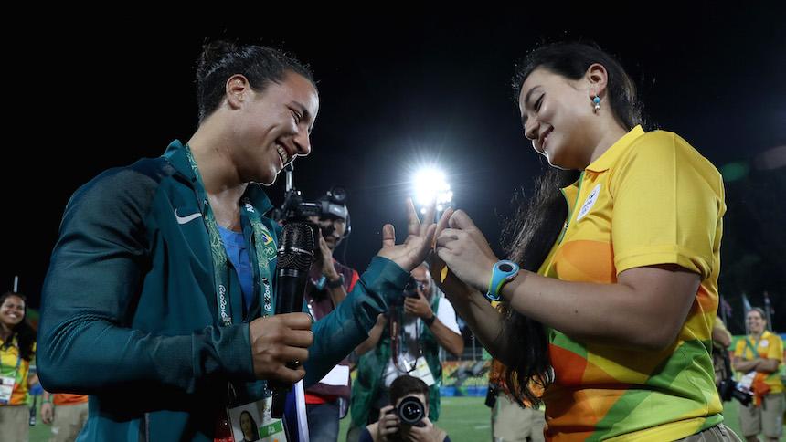 Love Wins: la propuesta de matrimonio a una jugadora de Rugby en Rio 2016