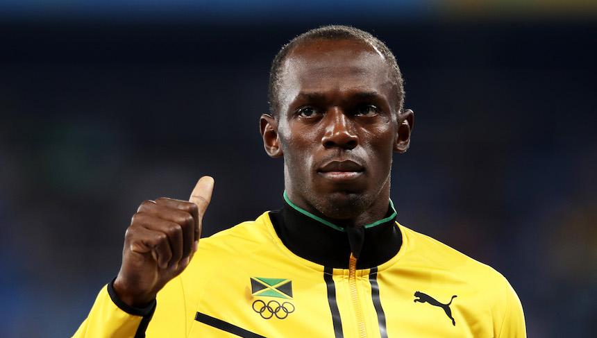 Usain Bolt probó sus habilidades en lanzamiento de jabalina