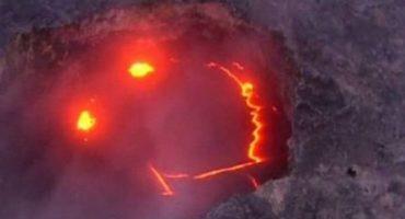 Y en la imagen del día: El volcán sonriente