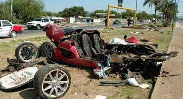 Contando las cosas buenas: supuesto empleado de Presidencia destroza auto de 1.4 mdd